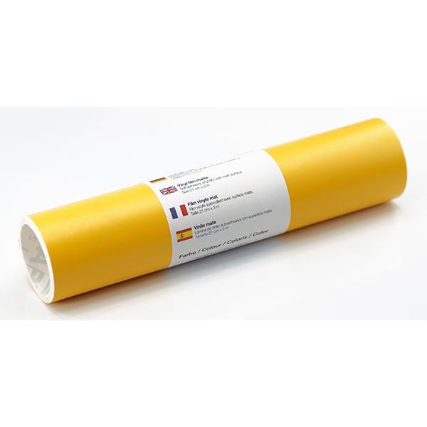 Film vinyle autoadhésif mat [21cm x 3m] – jaune soleil