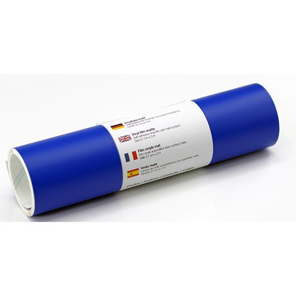 Film vinyle autoadhésif mat [21cm x 3m] – bleu roi