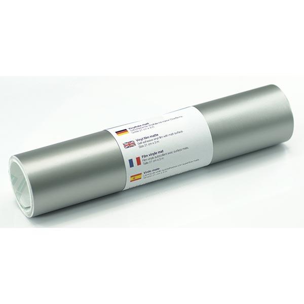 Selbstklebende Vinylfolie matt [21cm x 3m] – silber