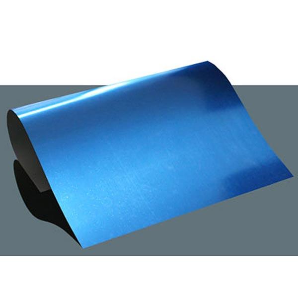 Bügelfolie Metallic Flex DIN A4 – blau
