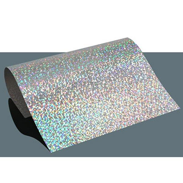 Film thermocollant à effet hologramme DIN A4 – argent