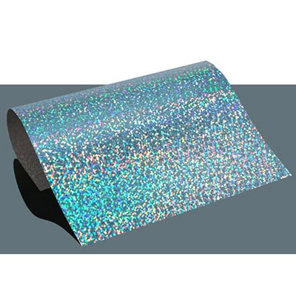 Film thermocollant à effet hologramme DIN A4 – bleu clair
