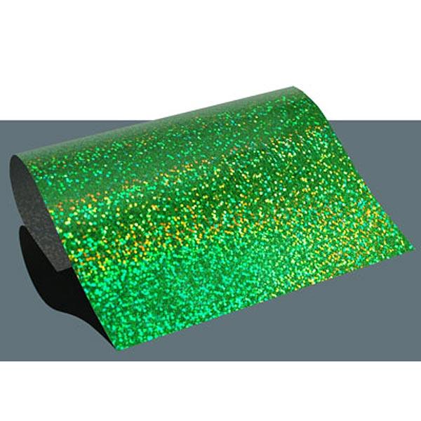 Bügelfolie Hologramm Effekt DIN A4 – grün