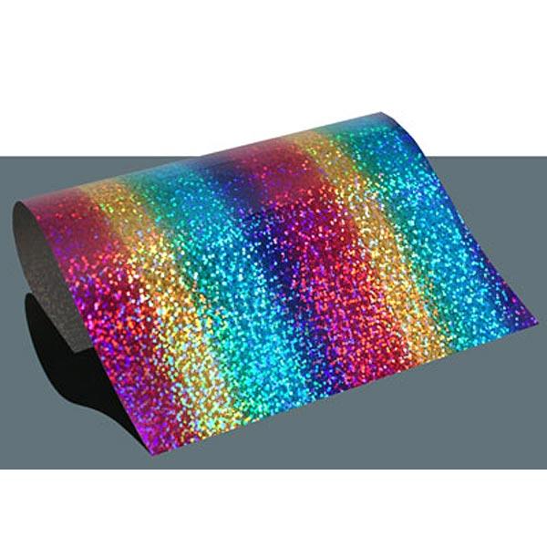 Film thermocollant à effet hologramme DIN A4 Arc-en-ciel – mélange de couleurs