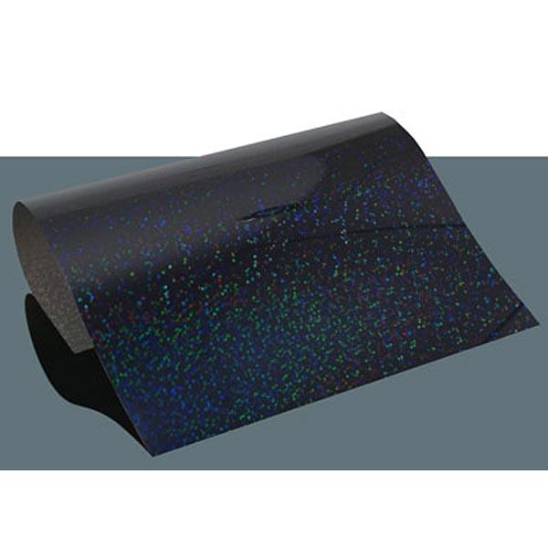Film thermocollant à effet hologramme DIN A4 – noir