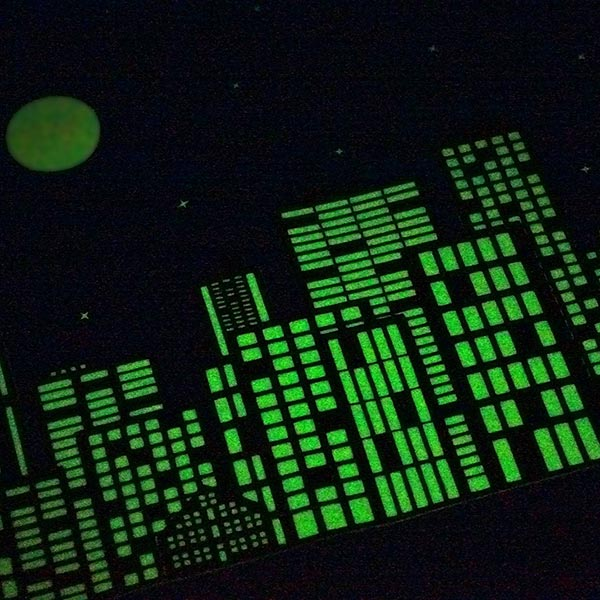 Bügelfolie Glow in the Dark A4
