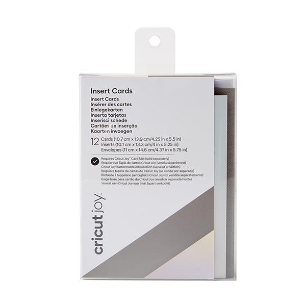 Cartes à insérer Cricut Joy Grey Holo [ 12 Pièces ] – gris/argent