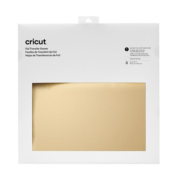 Films de transfert Cricut [ 30,5 x 30,5 cm | 8 Pièces ] – or