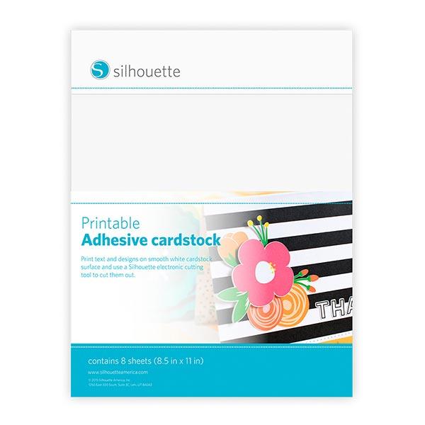 Silhouette  Cardstock selbstklebend bedruckbar [ 21,5 x 27,9 cm|8 Stück]