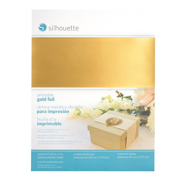 Silhouette Stickerfolie bedruckbar [21,6 x 28 cm|8 Stück] – gold