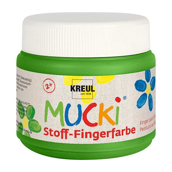 MUCKI Peinture au doigt pour tissu [ 150 ml ] | Kreul – vert