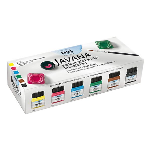Javana Seidenmalfarben Grundfarben Set [6x20ml] | Kreul