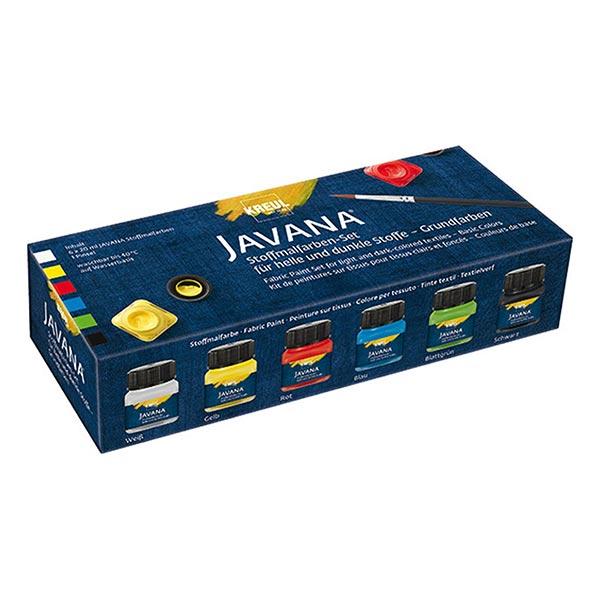Javana Peinture pour tissus clairs et sombres Couleurs de base Set [6x20ml] | Kreul