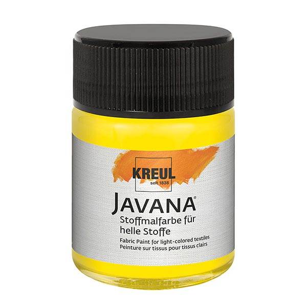 Javana Peinture pour tissus clairs [50ml] | Kreul – jaune fluo