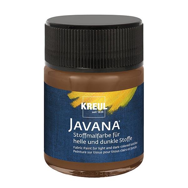 Javana Stoffmalfarbe für helle und dunkle Stoffe [50ml] | Kreul – braun