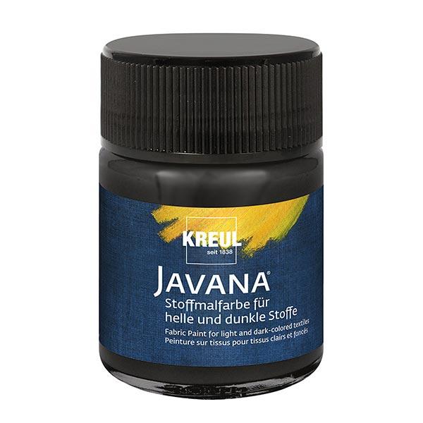 Javana Peinture pour tissus clairs et sombres [50ml] | Kreul – noir