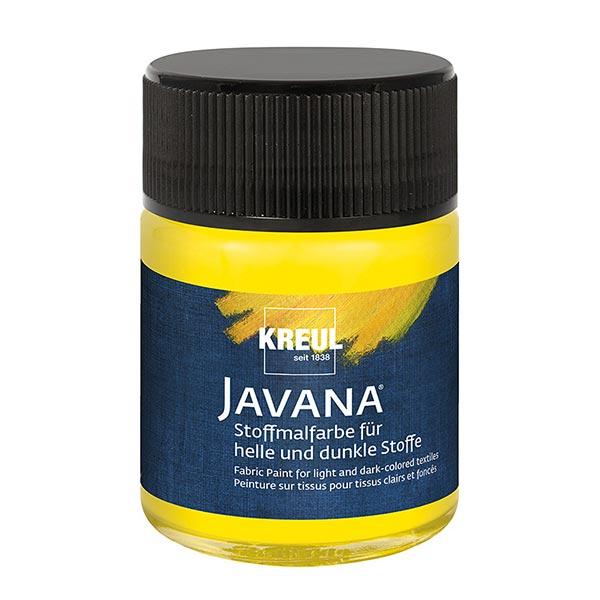 Javana Stoffmalfarbe für helle und dunkle Stoffe [50ml] | Kreul – gelb