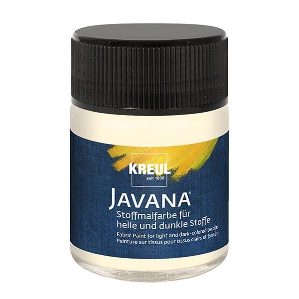 Javana Stoffmalfarbe für helle und dunkle Stoffe [50ml] | Kreul – creme