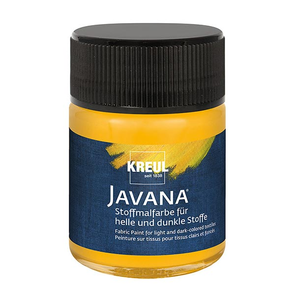 Javana Peinture pour tissus clairs et sombres [50ml] | Kreul – jaune soleil