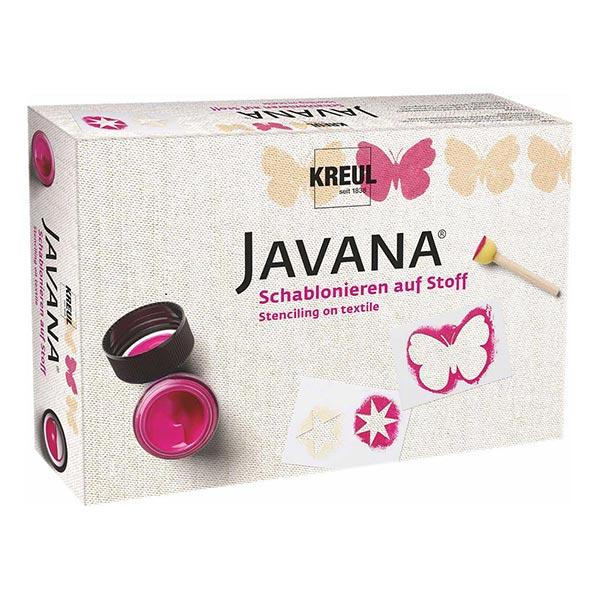 Javana Pochoir sur tissu Set | Kreul