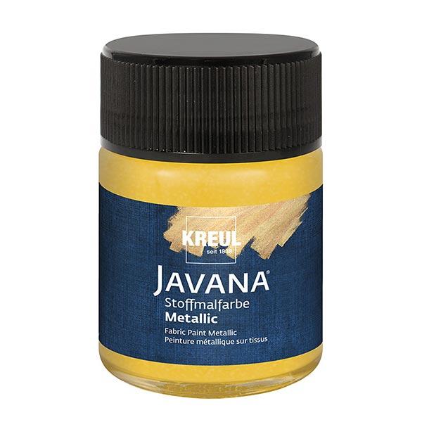 Javana Peinture pour tissus clairs et sombres Métallisé [50ml] | Kreul – or