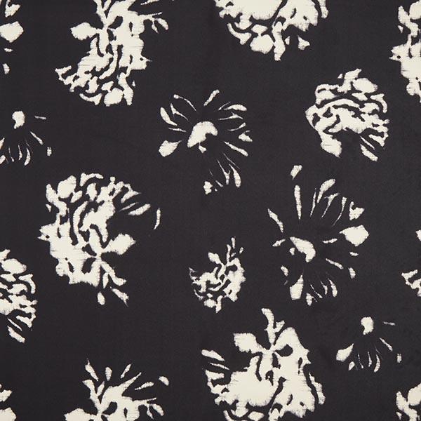 Seiden-Chiffon Kreidestriche – schwarz