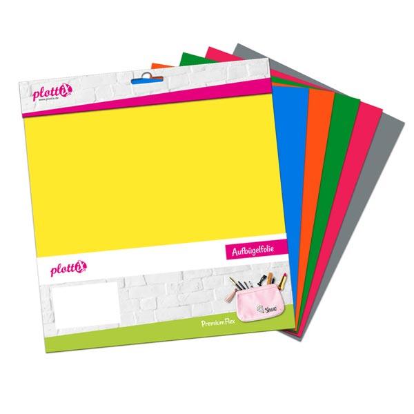 PlottiX PremiumFlex Grundfarben Set [20 x 30cm |6 Flexfolien]