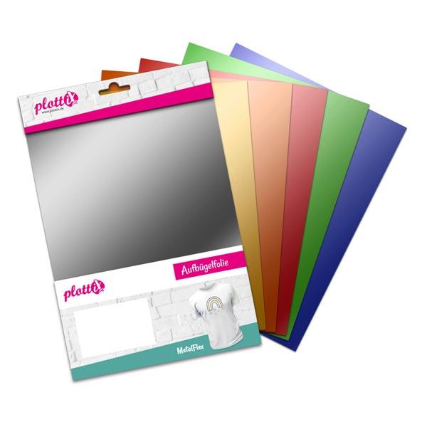 PlottiX MetalFlex Bundle [20 x 30cm |6 Flexfolien]