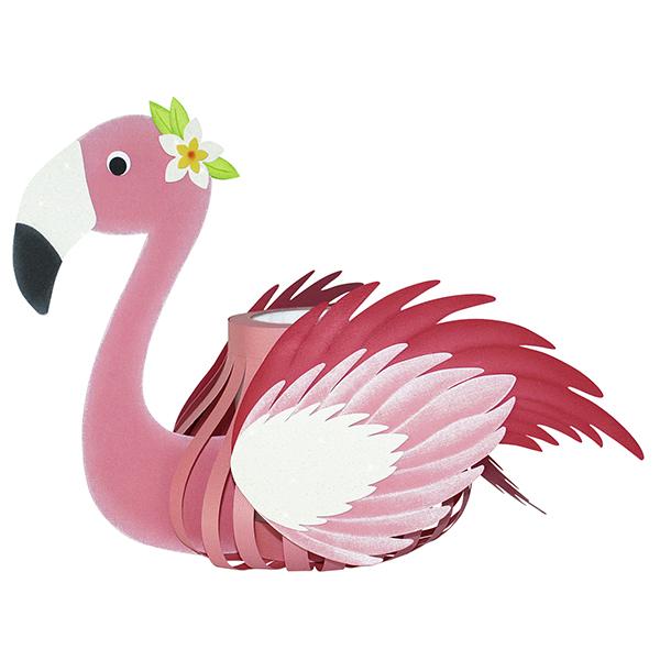 3D-Laternen-Bastelset Flamingo