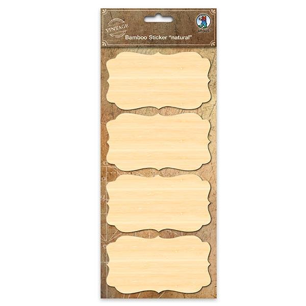 Bambus Sticker Etiketten  – beige