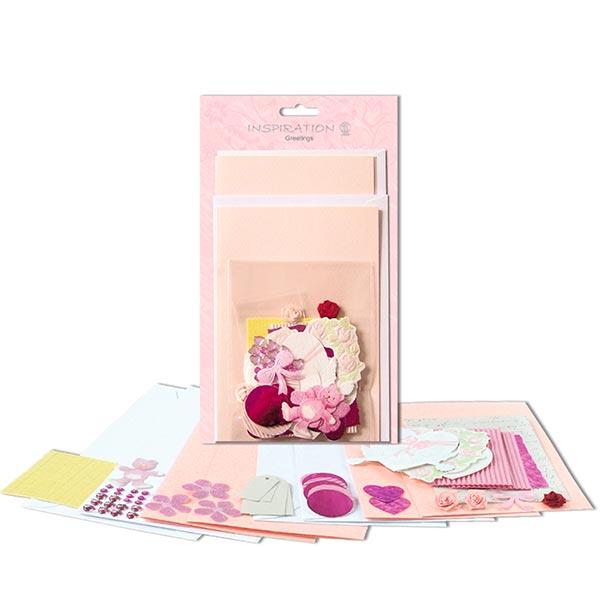Karten-Bastelset  – rosa