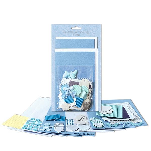 Karten-Bastelset  – blau