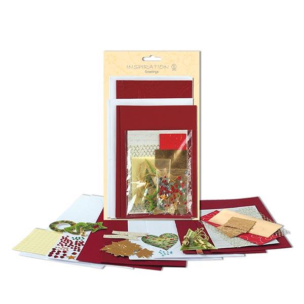 Karten-Bastelset Weihnachten  – rot