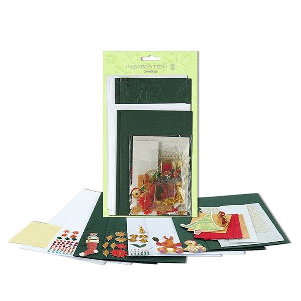 Karten-Bastelset Weihnachten  – grün