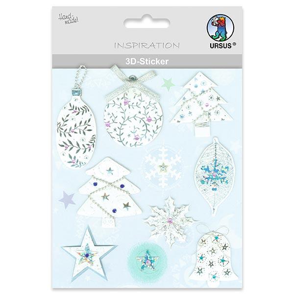 3D-Sticker Edle Weihnachten  – Farbmix