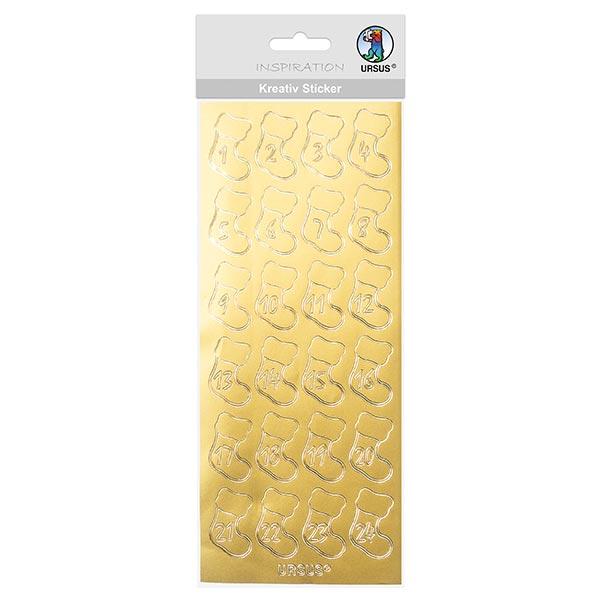 Kreativ-Sticker Nikolausstiefel [ 10 x 23 cm ] – gold