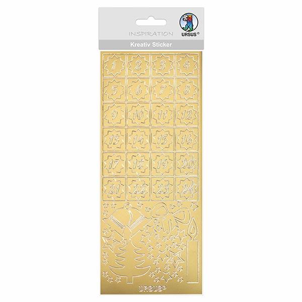 Kreativ-Sticker [ 10 x 23 cm ] – gold