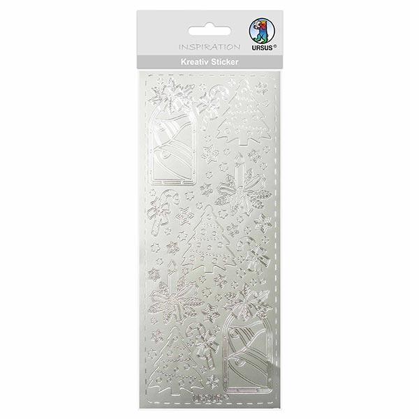 Kreativ-Sticker [ 10 x 23 cm ] – silber