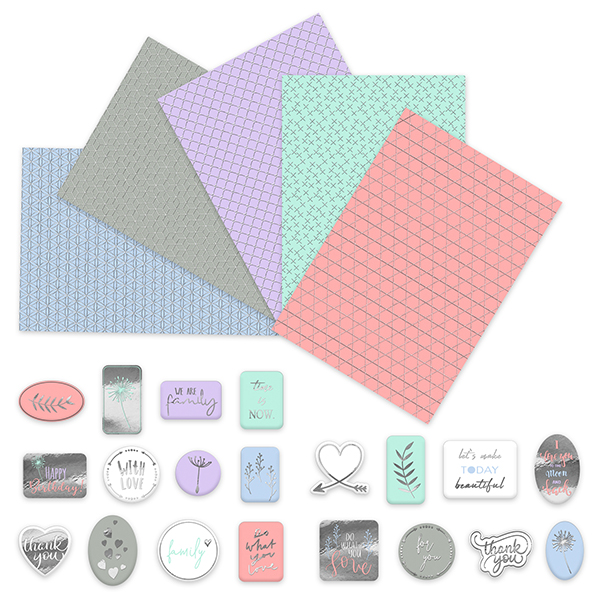 Designkarton mit Stickern Geometric