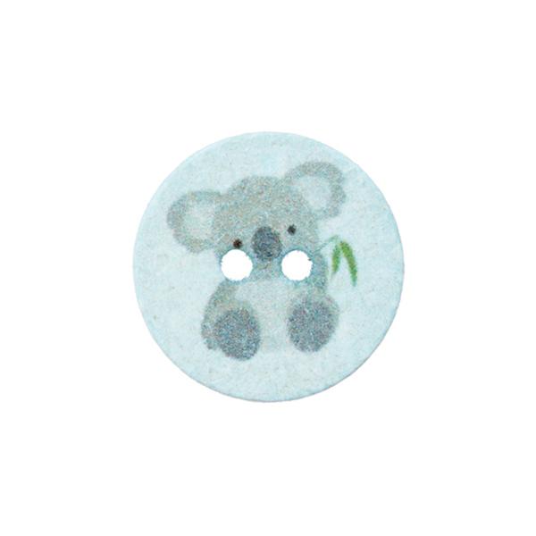Polyesterknopf 2-Loch Recycling Koala [Ø18 mm] – babyblau