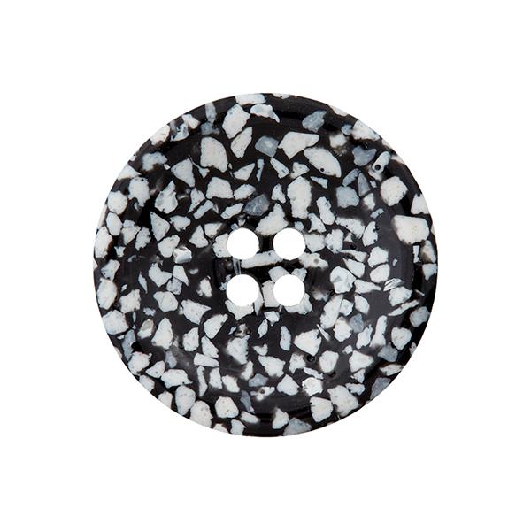 Bouton nacré 4 trous Recycling [Ø15 mm] – noir/écru