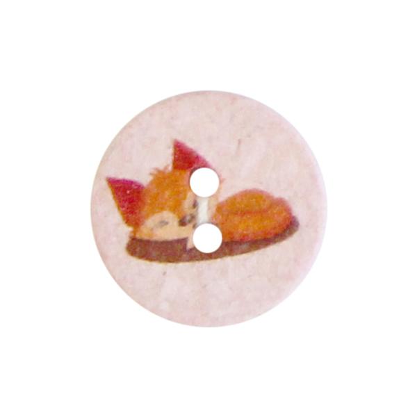 Polyesterknopf 2-Loch Recycling Fuchs [Ø15 mm] – rosa