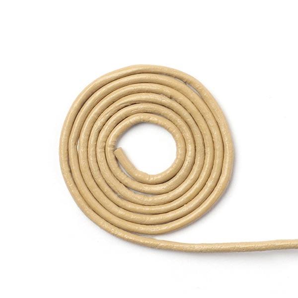 Lederkordel Slim [Ø 2 mm] - creme