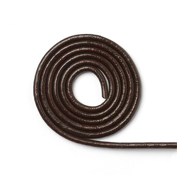 Cordelette en cuir Slim - marron foncé