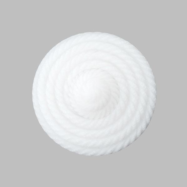 Bouton en plastique, Glandorf – blanc