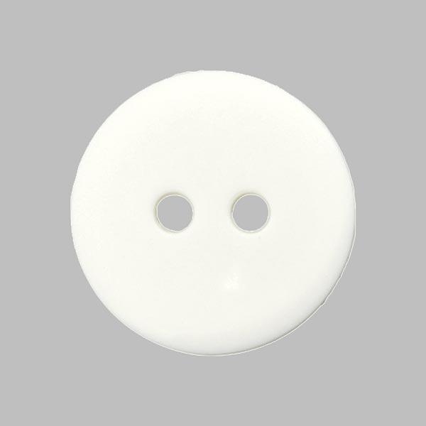 Bouton de chemisier Uni - blanc