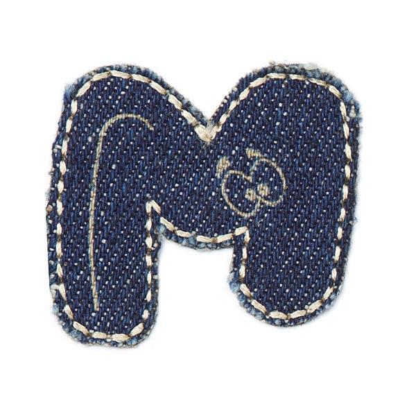 Motif jeans lettre M [3,5 x 3,2 cm]