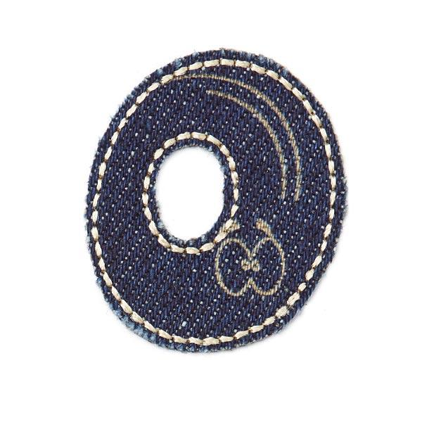 Motif jeans lettre O [Ø 3,5 cm]