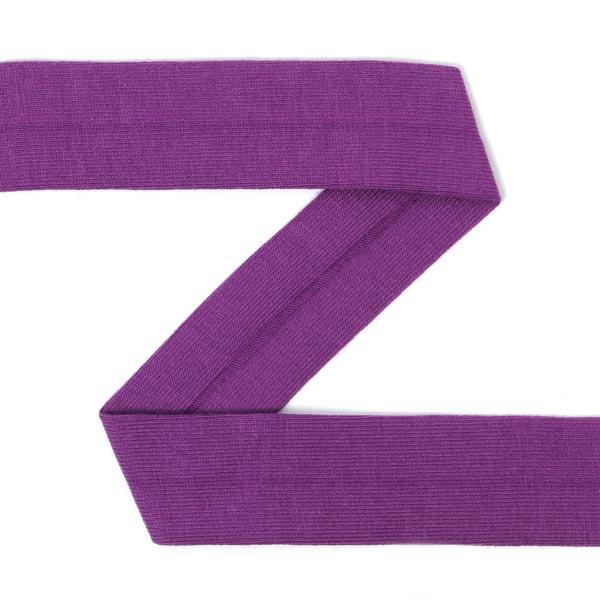 Bande de Jersey, pré-plié - violet