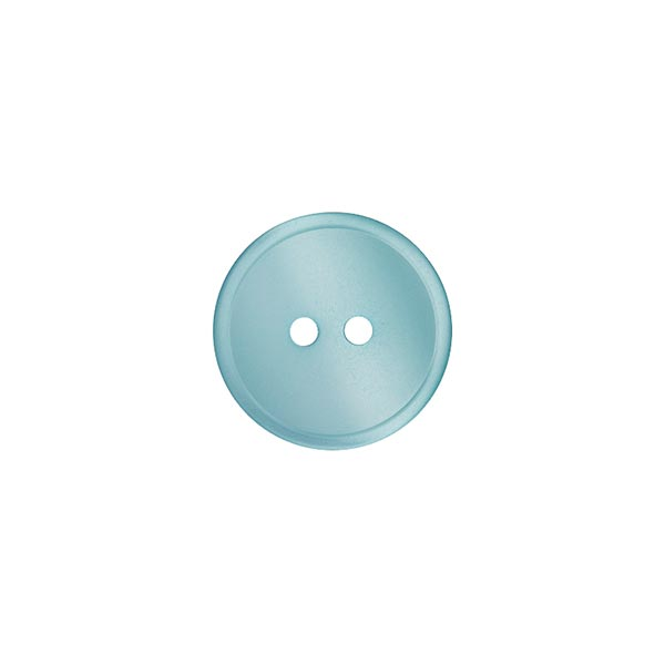 Bouton polyester 2 trous  – turquoise